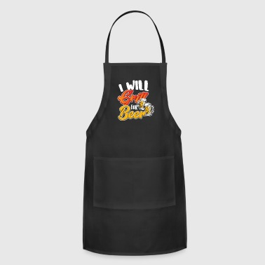 Grill Master Barbecue Beer Meat Fire Food Grill Idea Party - Adjustable Apron
