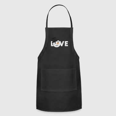 Nose Love Snowman Face gift christmas children kids - Adjustable Apron