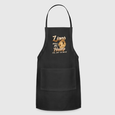 Kenya Lions make me happy big cat safari savannah africa - Adjustable Apron