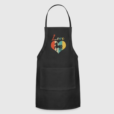 Foal Horse & Pony Retro Heart Love Gift & Present - Adjustable Apron