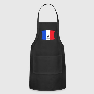 French France Flag Eiffel Tower Paris Gift Travelling - Adjustable Apron