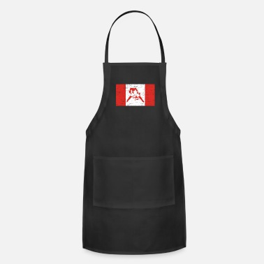 Canada Flag Canada Hockey Gift Christmas Birthday Kids - Adjustable Apron