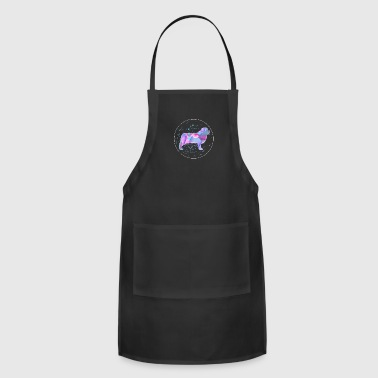 Animal Newfoundland Dog Owner Gift Watercolor Artwork - Adjustable Apron