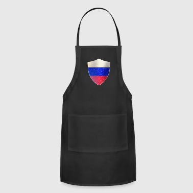 Police Russia Flag Shield - Adjustable Apron
