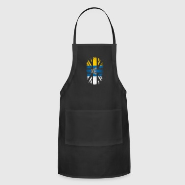 Off British Canarian Flag - Canary Islands and UK Pride TShirt - Adjustable Apron