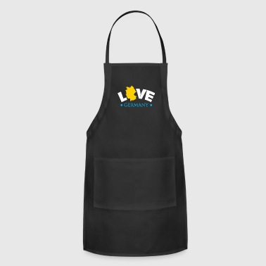 Vacation Germany gift flag gold black - Adjustable Apron