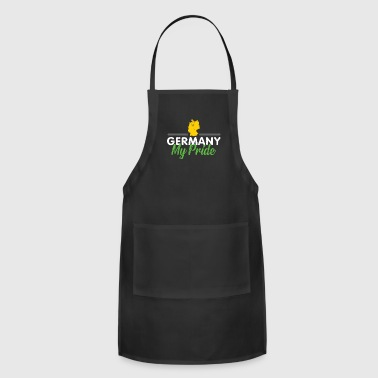 Vacation Germany gift flag gold symbol - Adjustable Apron
