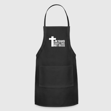Big Sister Awesome & Trendy Tshirt Designs Hot mess - Adjustable Apron