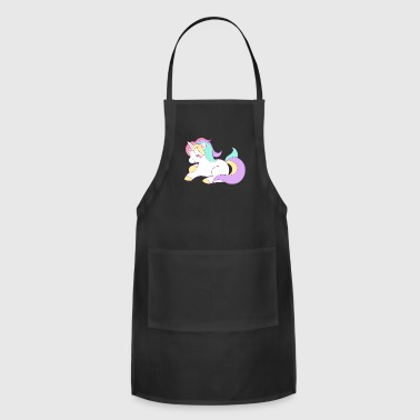 Funny Unicorn Cute Unicorn - Adjustable Apron