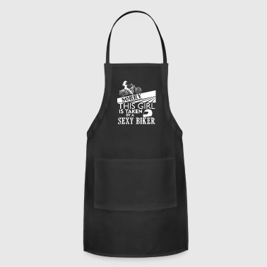 This Girl Is Taken By A Biker T Shirt - Adjustable Apron