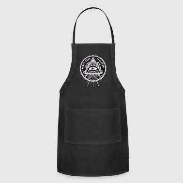 New World Order illuminat new world order - Adjustable Apron