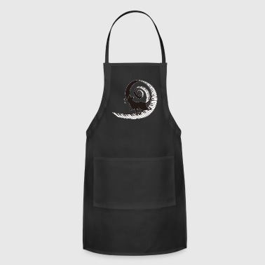 Black Cat Walking On Spiral Piano Music Love - Adjustable Apron