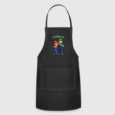 Luigi Mario and luigi bodyguards - Adjustable Apron