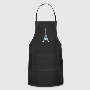 Eiffel Tower in Paris, France french flag giftidea - Adjustable Apron