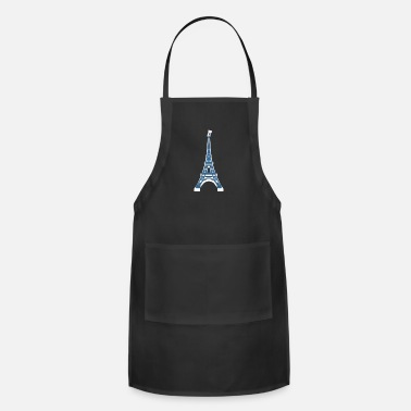 French Flag Eiffel Tower in Paris, France french flag giftidea - Adjustable Apron