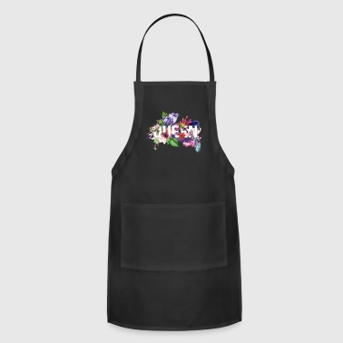 Queen trendy floral design - Adjustable Apron