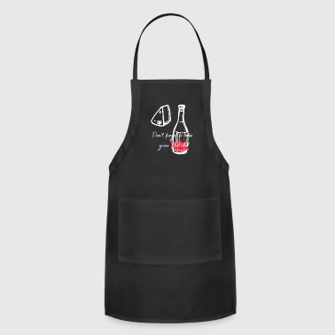 Mardi Gras Don't Forget To Take Your Flu Shot Bottle & Cheese - Adjustable Apron