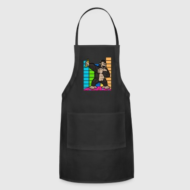Musician Disco Party Music Dabbing Dab Gorilla - Adjustable Apron