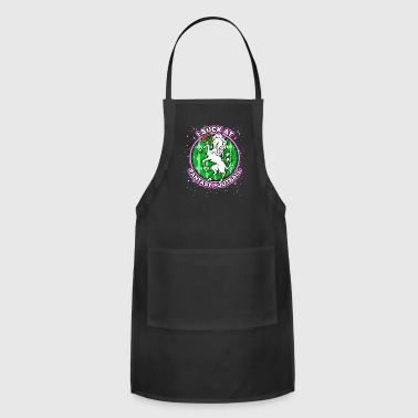 I Suck at Fantasy Football Unicorn Pink - Adjustable Apron