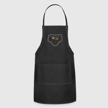 Diaper With A Safety Pin - Adjustable Apron