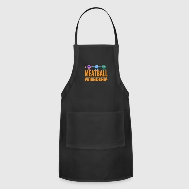 Beirut SILLY MEATBALL FRIENDSHIP T-SHIRT DESIGN - Adjustable Apron