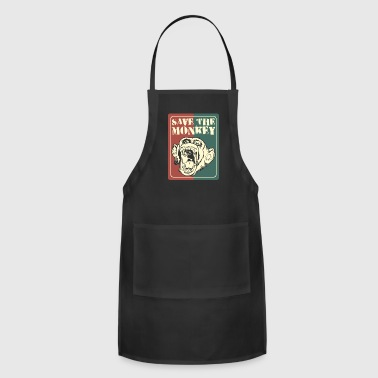 Monkeys Animal rights - Adjustable Apron