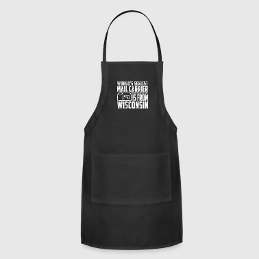 Rural Mail Carrier Wisconsin Mail Carrier Christmas - Adjustable Apron