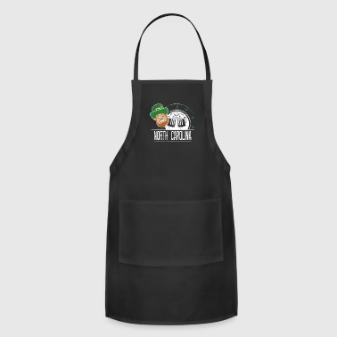 St Paddy Shirt North Carolina St Patricks Day Outfit Girls - Adjustable Apron