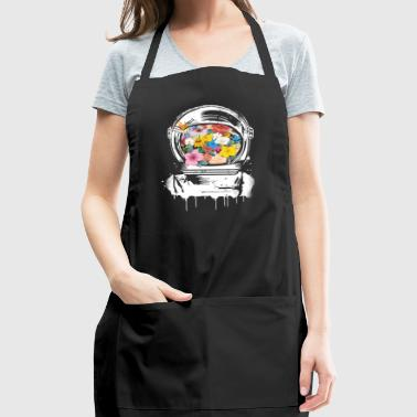 Astronaut Space Helmet with flowers - Adjustable Apron