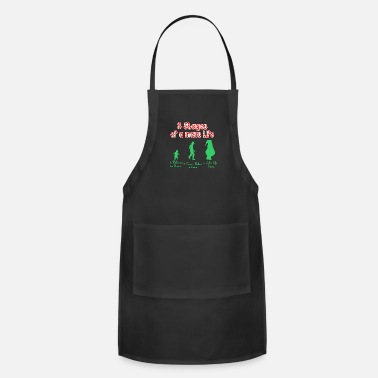 Stage 3 Stages Of A Mans Life Santa - Adjustable Apron