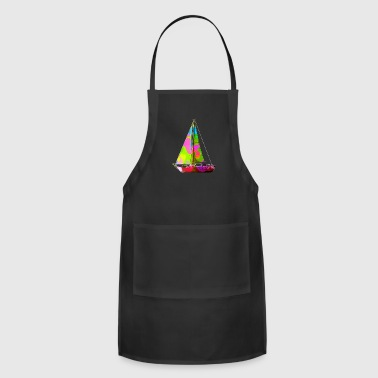 Colorful Sailboat - Adjustable Apron