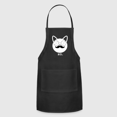 Hipster Cat No (w) - Adjustable Apron
