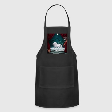 Mythology Wonderful unicorn with flag - Adjustable Apron
