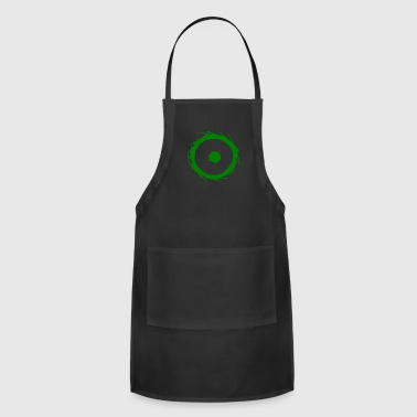 Alchemy symbol sun (gold) green - Adjustable Apron