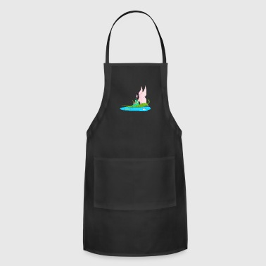 Fairy swims on a leaf in the pond - Adjustable Apron