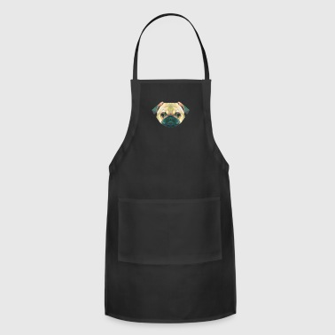 Cool Geometric Prism Pug T-shirt Futuristic Tee - Adjustable Apron