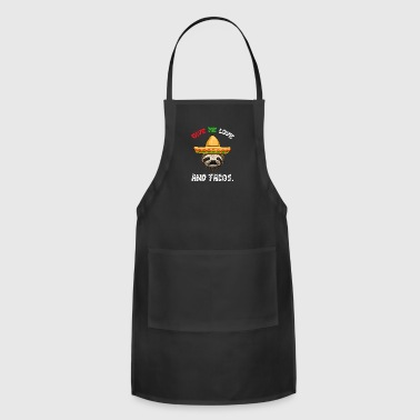 Love And Tacos Sloth - Adjustable Apron