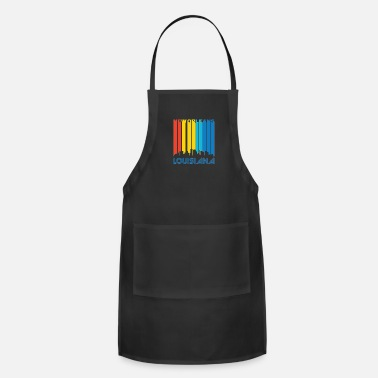 New Orleans Retro New Orleans Skyline - Adjustable Apron