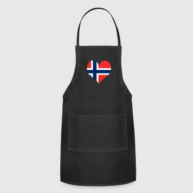 Heart Norway Love country europe gift idea - Adjustable Apron