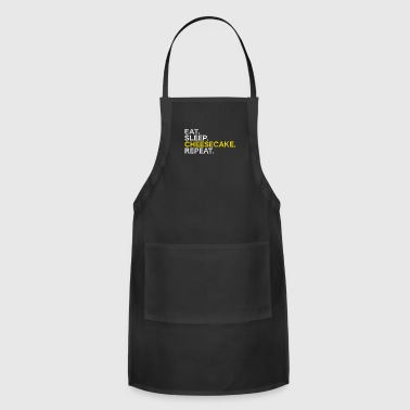 eat sleep cheesecake repeat - Adjustable Apron