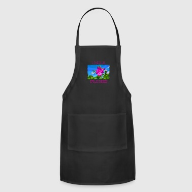 PIXEL FLOWER with pixel font - Adjustable Apron