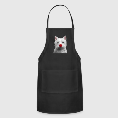 Red Nose Day Westie - Adjustable Apron