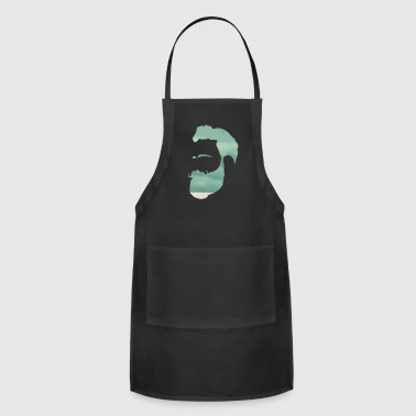 Indie Mountain Climber Silhouette - Adjustable Apron
