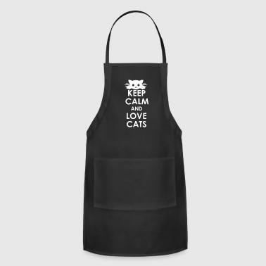 Keep Calm And Love Cats - Adjustable Apron