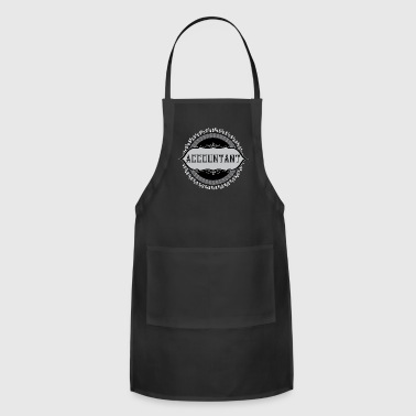 Accountant Dollar Signs Emblem - Adjustable Apron
