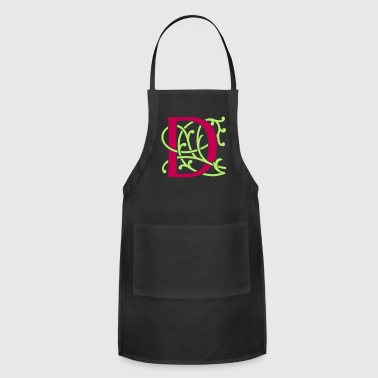 Initial DIY FlexColor™ Monogram D • A4-2 – 2 Colors - Adjustable Apron