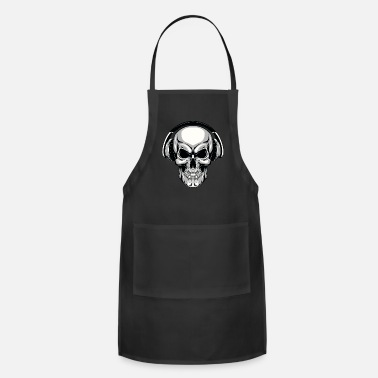 Headphones Skull with headphones - Apron