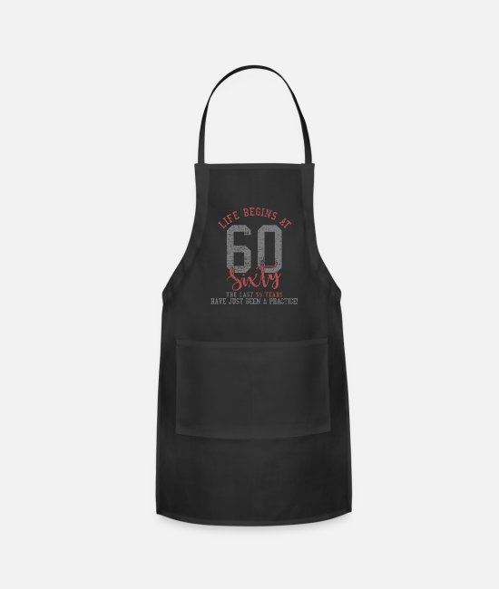 Design Aprons - 60th birthday - Apron black
