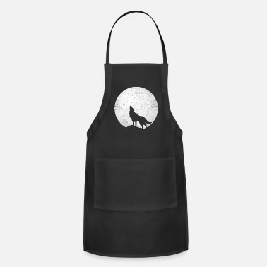 Yell Wolf forest hunter mountain yell gray fang king - Apron