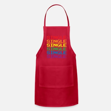 Single Single Gay Pride Retro Gamer for Guys Lesbians - Apron
